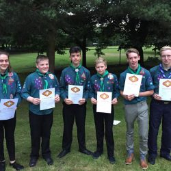 Scouts at CSG Ceremony
